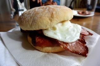 A 'bap' sandwich.