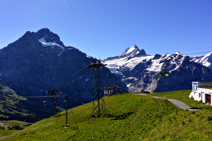 Gondola from Grindelwald to First.