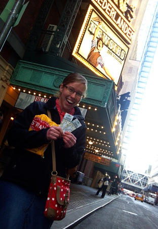 Once my friend won us free tickets to the Newsies.