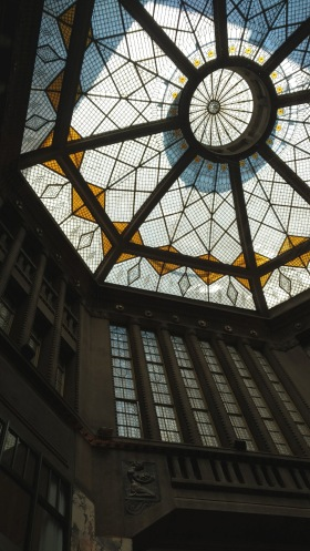 Beautiful glass ceilings.