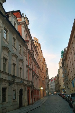 Colorful Prague streets.