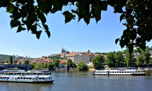 View of Prague Castle.