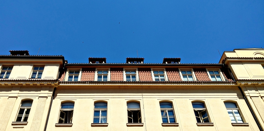 In Prague I feel in love with the roof lines.