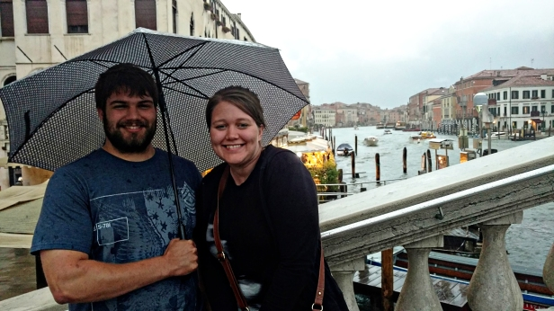 Troy bought an umbrella. Vanessa did not. I brought my own from home. :)
