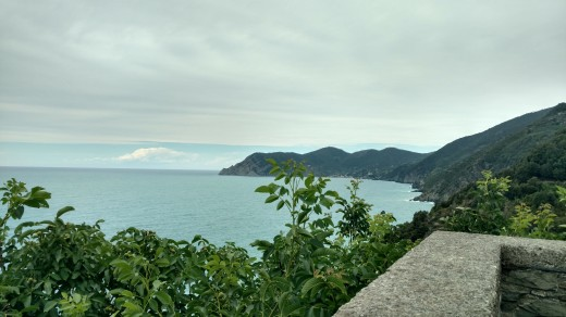 View of the sea from Corniglia.