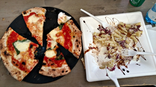 Pizza and pasta, because duh.