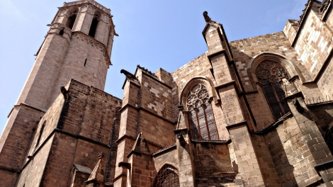 The back side of the Cathedral.