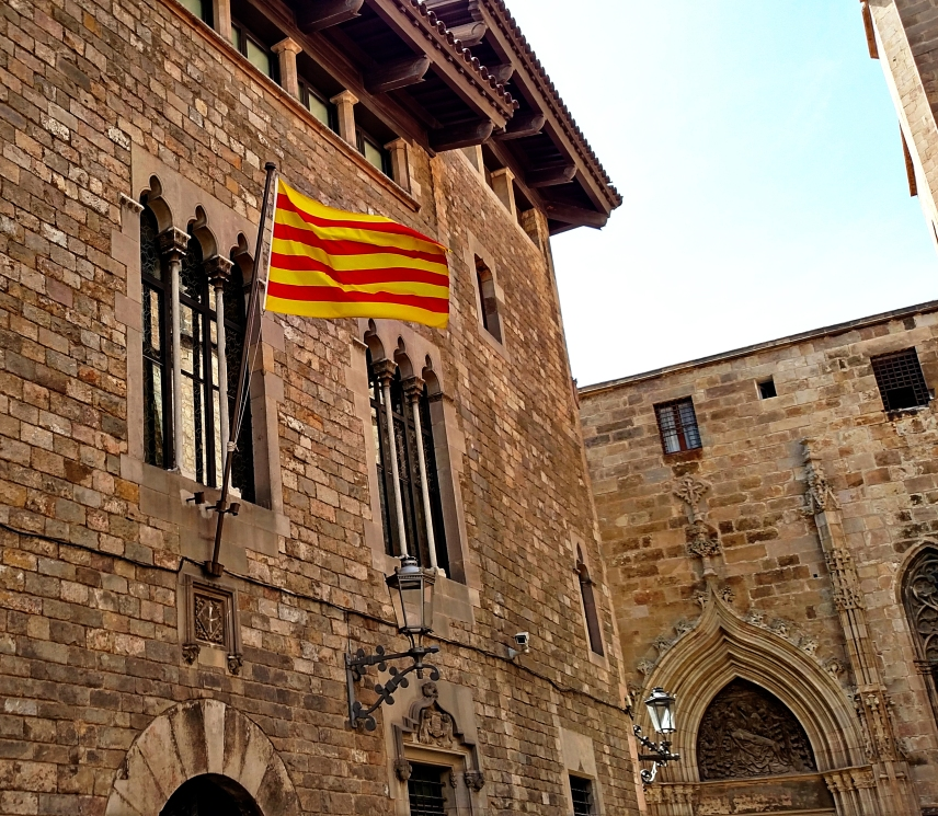 The Catalonian flag.