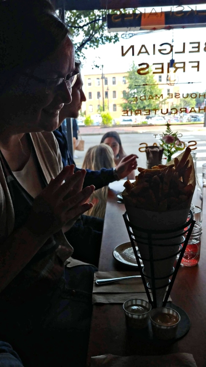 Their fries are fried in duck fat. THE BEST.