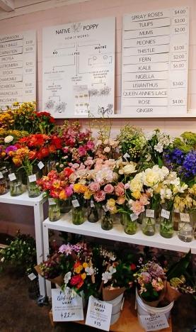 Flower menu.