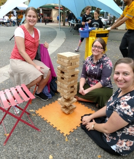 We were very entertained with Jenga.