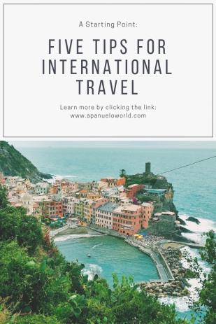 five tips for International Travel